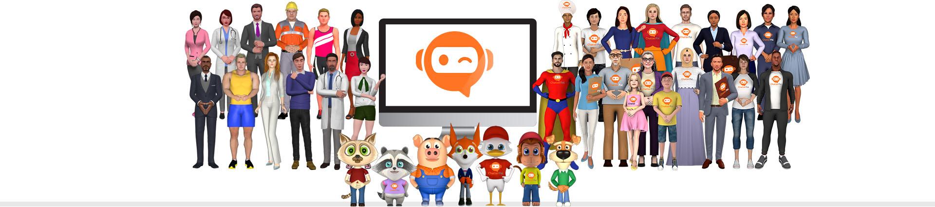 3D-animated avatar
